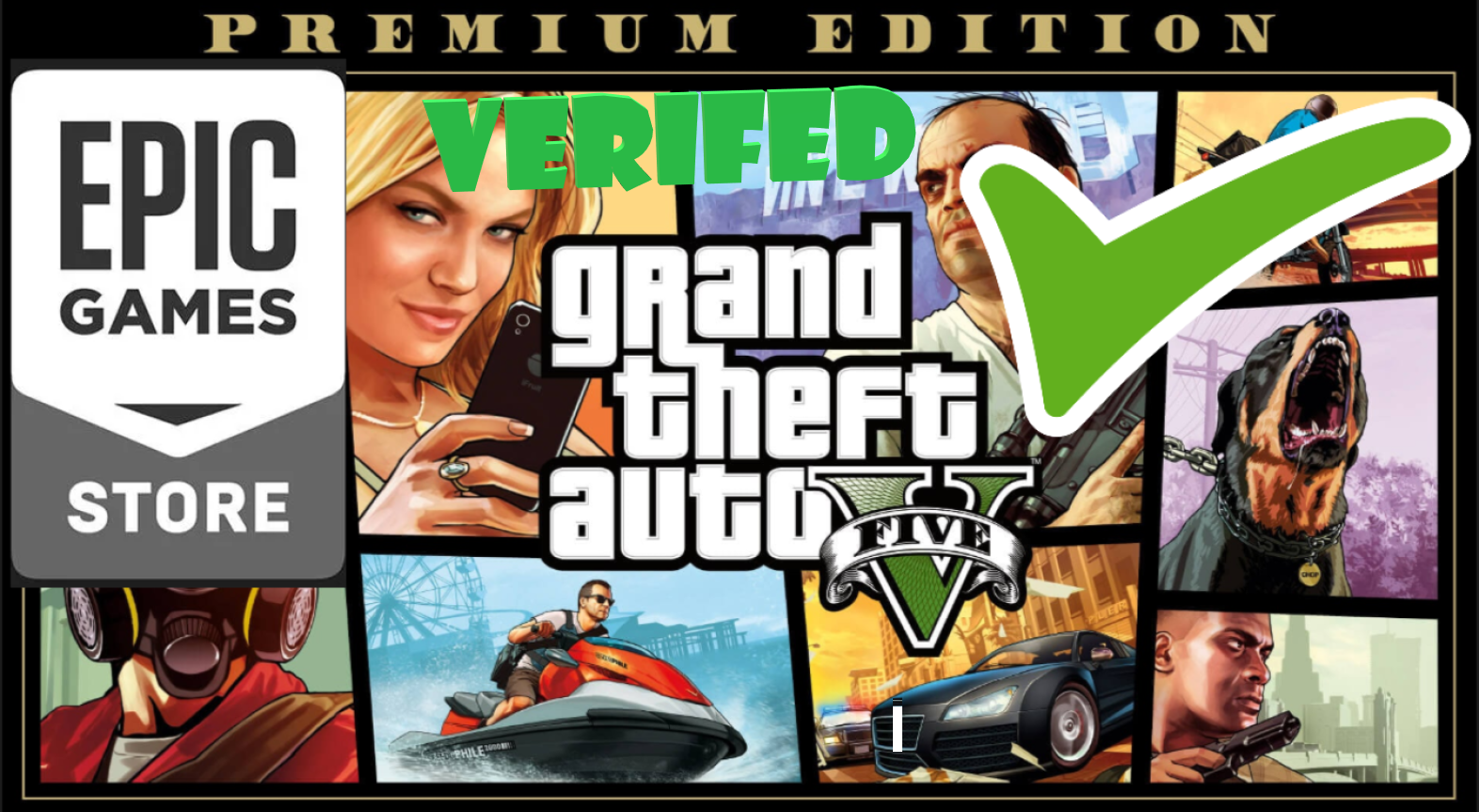 GTA 5 PREMIUM ONLINE EDITION (GRAND THEFT AUTO 5) PC GLOBAL (EPIC GAMES ACCOUNT)