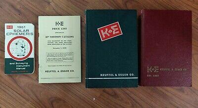 Keuffel & Esser Co. (K+E) Catalogs + Manual - 1944-1961, Vintage, Complete