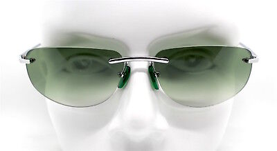 Sonnenbrille Mann Frau Rechteckig Oval ohne Gestell Objektiv Grün Retro