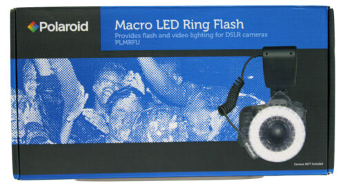 Polaroid 48 Macro LED Ring Flash & Light Includes 4 Diffuser