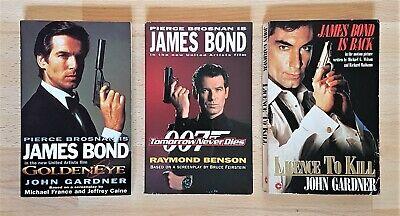 James Bond - Film Release Book Trio - Goldeneye - TMD - Licence To Kill - Rare comprar usado  Enviando para Brazil