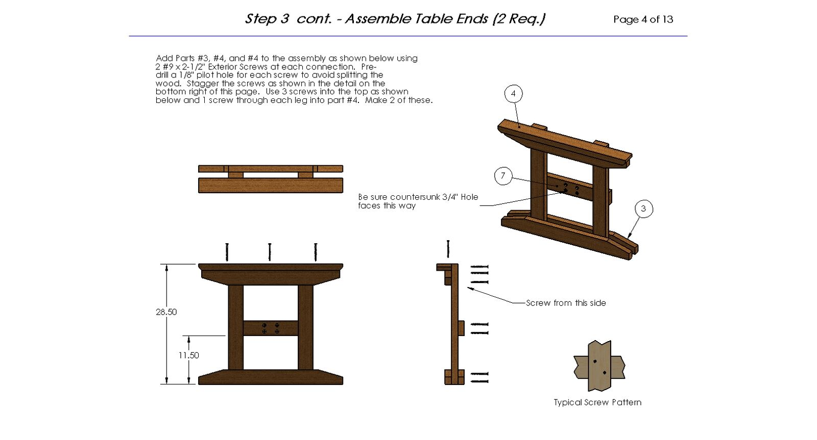 easy to build trestle style picnic table with benches plans table ...