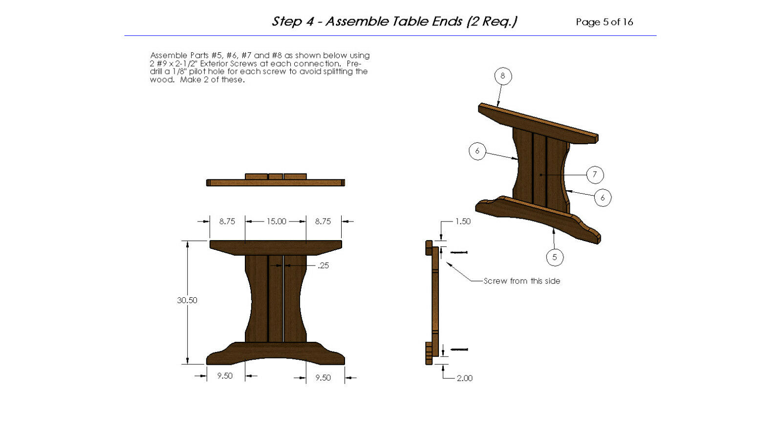 how to build an 8 foot picnic table