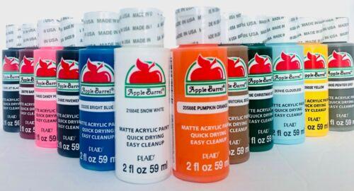 APPLE BARREL Acrilyc 12 PACK 2 OZ Matte Finish Special Colors Paint Set NEW!!!!!