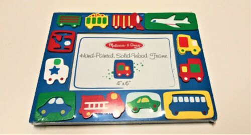 Melissa & Doug Picture frame 4x6 Transportation Hand Painted Solid Wood NEW