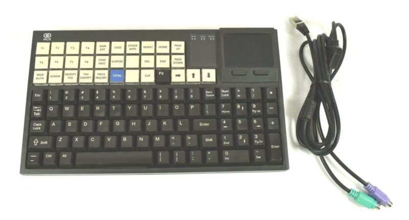 * NCR 5932-6570-9090 RealPOS Point-of-Sale Keyboard with Touch Pad
