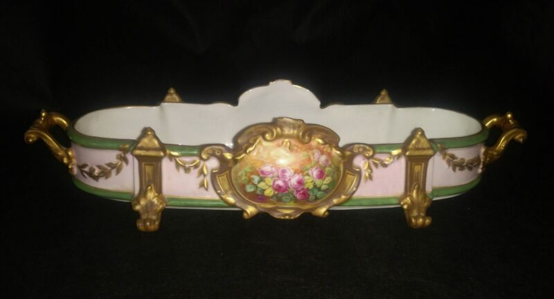 Exquisite Léonard Chambon Handpainted Centerpiece / Jardinere