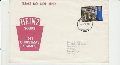Christmas Issue 1971 Heinz Soups postmarked Preston 13 Oct 1971