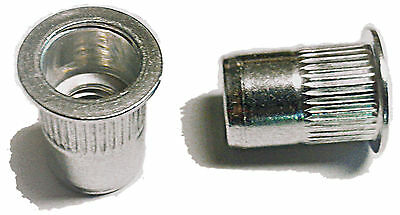 Rivet Nuts 14-20 Aluminum 25pc Buy 3 Or More10 Rebate Rivnut Riv Nut Nutsert
