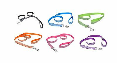 Lazer Brite Reflective Open Design Adjustable Lead for Dog EACH 6 Color & size