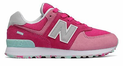 New Balance Kid's 574 Big Kids Female Shoes Pink with Pink