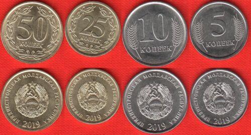 NEW! Transnistria set of 4 coins: 5 - 50 kopeek 2019 UNC