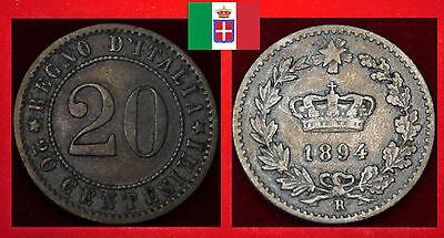 MÜNZE COIN ITALIEN ITALIA ITALY  20 CENTESIMI 1894 R  - ROM ROMA