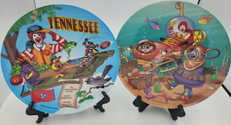 McDonalds Collectors Plastic Plate Sun Coast Industries Tennessee and Ocean 2001