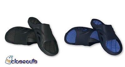 Mens Slip On Sport Slides Sandals Flip Flop Shower Shoe Slippers Pool Gym Spa