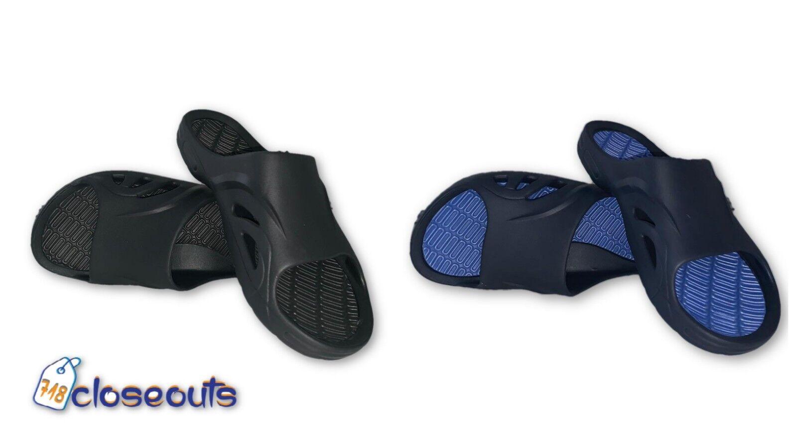 Mens Slip On Sport Slides Sandals Flip Flop Shower Shoe Slip