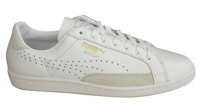 Puma Match 74 UPC Lace Up White Stone Mens Leather Trainers 359518 10 OppM6
