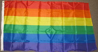 3X5 RAINBOW FLAG GAY LESBIAN PRIDE LGBT PEACE F173