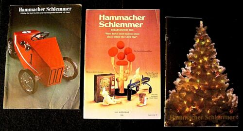 3 VINTAGE HAMMACHER SCHLEMMER CATALOGS, Fall/1986, Holiday/1989, 1997, Gifts, VG