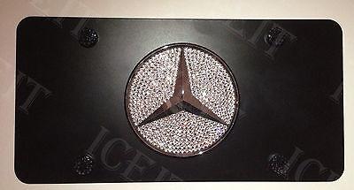 Mercedes Black Bling Vanity Front license plate frame madewith Swarovski Crystal