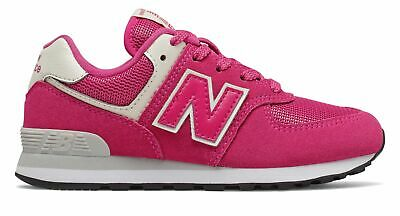 New Balance Kid's 574 Little Kids Female Shoes Pink with Off White