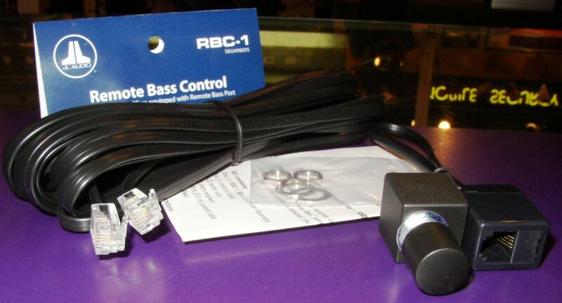 JL Audio RBC 1 Remote Bass Control & Cable for JL Audio Amplifier w/ Port non HD