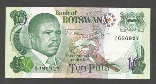 Botswana 10 Pula N.D. (1982); VF+; P-9a, L-B109a; National Assembly