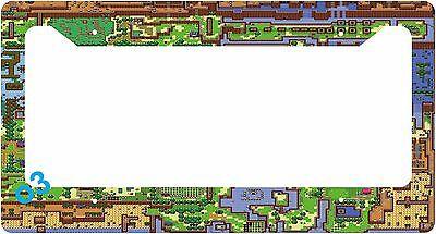 Legend of Zelda Link Map World Game License Plate Frame Alumminum Car Auto License Plate Game Map