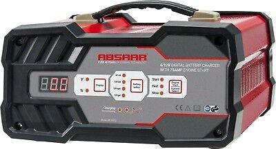 ABSAAR AB-JS012 Batterieladegerät 12A 6/12V mit Starthilfe - Benziner & Diesel