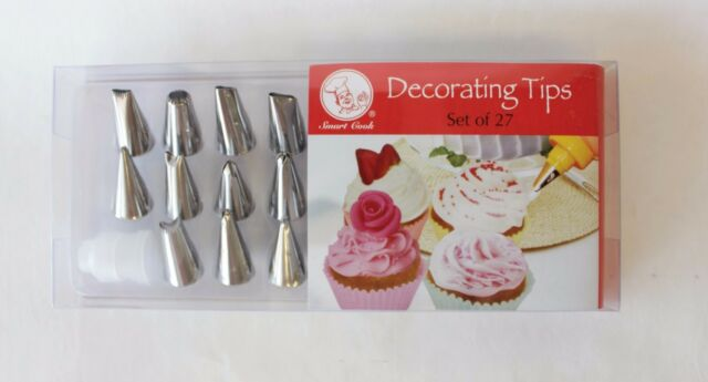 Smart Cook Pc Cake Cupcake Cookie Pastry Decorating Tips Set
