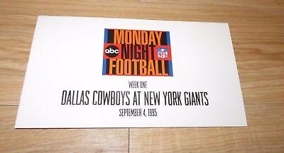 Abc Monday Night Football Dallas Cowboys At New York Giants Promotional Set 1995