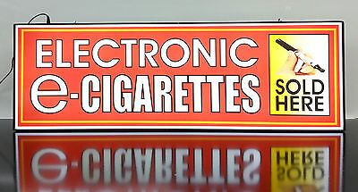 Business Led Lighted Box Sign Electronic E - Cigarettes Sold Here Red