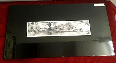 "Art Print Riverboat Natchez New Orleans Plantation River Live oaks 2"" x 9"""