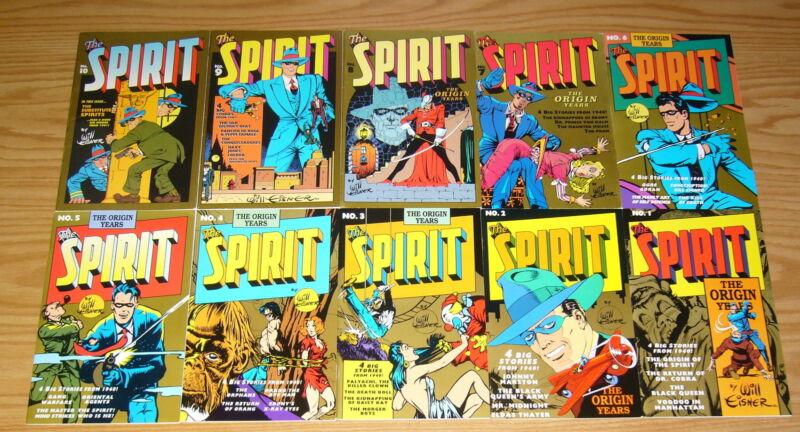the Spirit: the Origin Years #1-10 VF/NM complete series - will eisner set lot