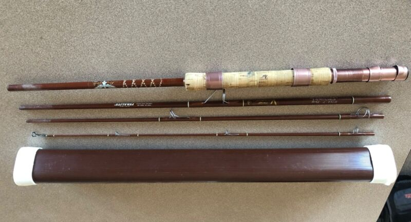Vintage Fenwick Voyageur Spin/Fly Rod With Case