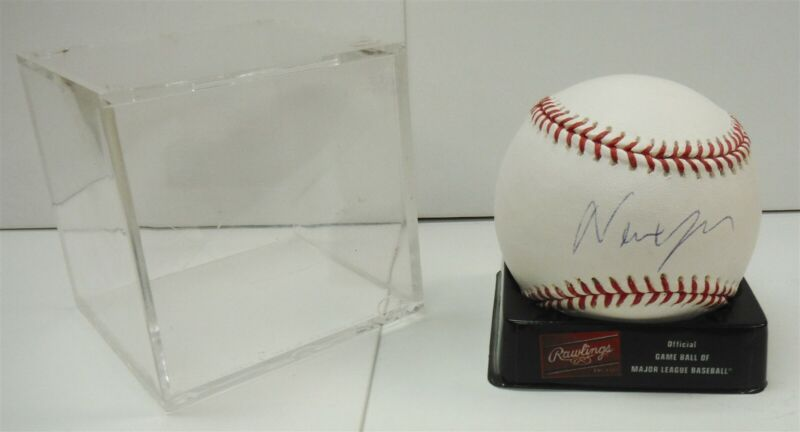 Autographed / Signed Newt Gingrich Baseball in Square Case FREE SHIP col1