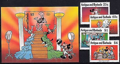 ANTIGUA & BARBUDA, 1990 Walt Disney 1393,1396,1397,1400, Block 182 **, (24256)