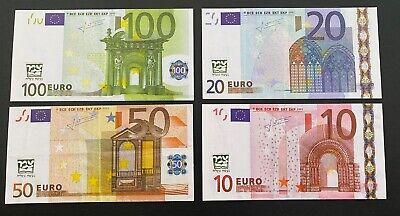5x 1 Billet factice de 10,20,50,100 euro
