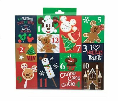 Disney Parks 2019 Advent Calendar 12 Days Of Socks Snack Icons Adult size 4-10