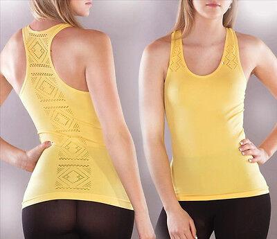 Top Muskelshirt Trägershirt Shirt Tank Top Lochmuster Fitness Yoga Pilates Sport