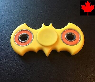 Batman Fidget Spinner Stress Focus Fun Bat Toy for Kids Adults- Yellow & Orange
