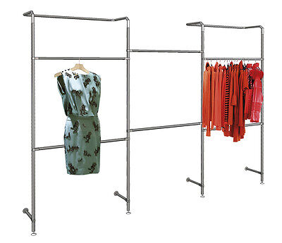 Ladeneinrichtung Verkaufsständer Wandregal Kleiderständer 300 cm  - NEU - NEU