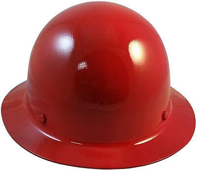 Msa Red Skull Gard Fiberglass Fb Hard Hat With Ratchet Or Pin Lock Susp