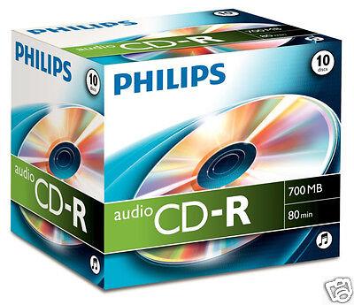 Philips CD-R 80min 700MB Audio 10er Pack CD Rohlinge CR7A0NJ10/00