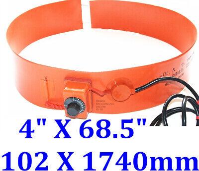 4 X 68.5 102 X 1740mm 120v 1000w Band Drum Oil Biodiesel Plastic Barrel Heater