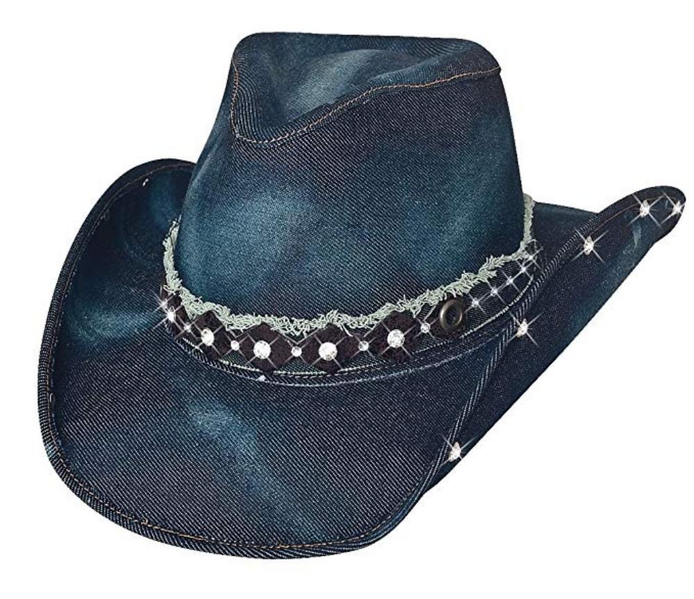Bullhide Hats Cowboyhut Jeanshut Better Than Yesterday blau Gr. S - XL