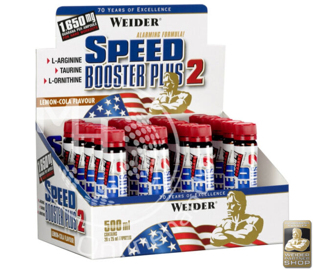 Weider Speed Booster Plus 2 (47,98€/L) 20x 25ml LEMON-COLA !Guarana Ornithin