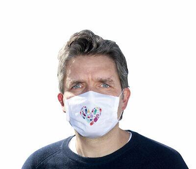 Mund-Nasen-Maske - Händeherz (*NEU*) - Schutz gegen Infektionen