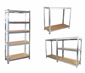 Two x Five Tier Heavy Duty Shelving Units