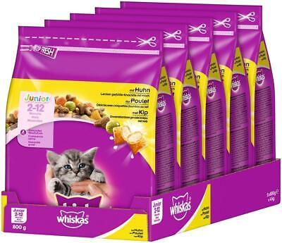 Whiskas Katzenfutter Trockenfutter Junior <1 für Kätzchen/Kitten mit